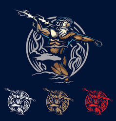 Zeus emblem style vector