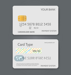 bank credit card white template vector image vector image