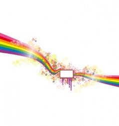 rainbow banner vector image vector image