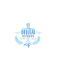 typographic badges - dental clinic on the basis vector image