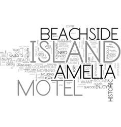 amelia island inn text word cloud concept vector image vector image