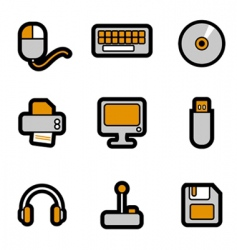 computer objects icon vector image vector image