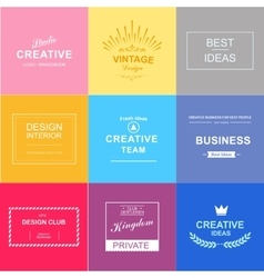 Logo set design elements vector