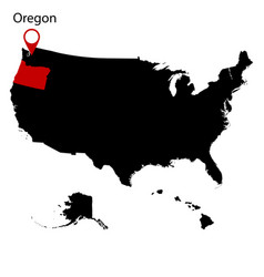 map of the us state of oregon vector image
