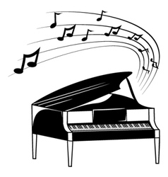 Piano and music notes vector image vector image