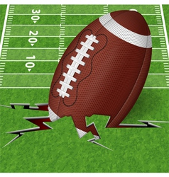 Touchdown vector image