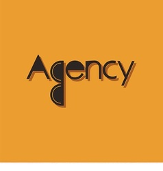 Logo Word Agency vector image