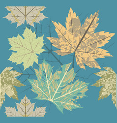 seamless pattern with old autumn leaves vector image vector image