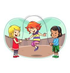 Skipping Jump Play vector image