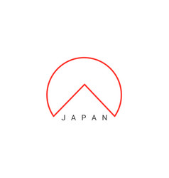 abstract japan icon vector image