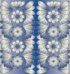 Background grey and blue vector image vector image