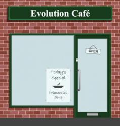 evolution cafe vector image vector image