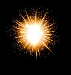 Explosion fireworks powerful bright ray vector image vector image