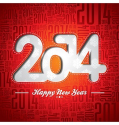 Happy New Year 2014 celebration design vector image