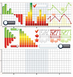 Infographic Charts Graphs Templates vector image