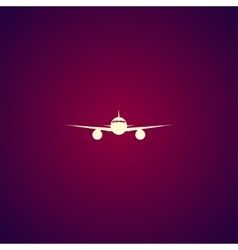 Plane icon Flat design style vector image vector image