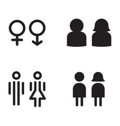 toilet restroom icons vector image