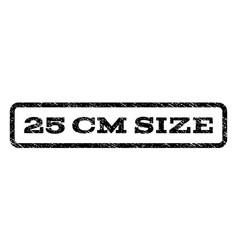25 cm size watermark stamp vector image