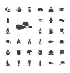 33 cap icons vector
