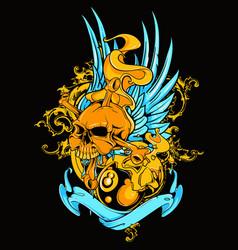 8 ball tattoo vector image