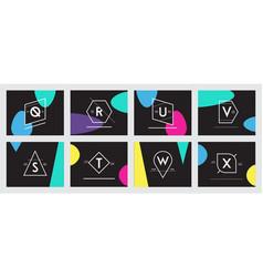 81 hipster logo set vector