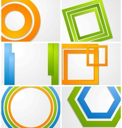 Abstract bright backgrounds vector image