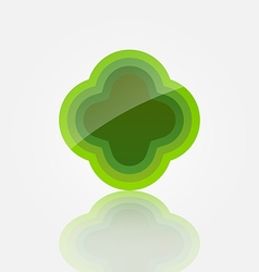 Abstract green icon vector image