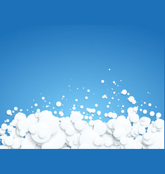 abstract white bubbles on blue background vector image
