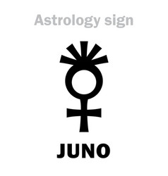 astrology asteroid juno vector image