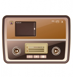 Audio media player skin vector