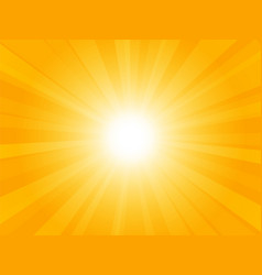 beautiful yellow background with rays vector image
