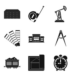 Big company icons set simple style vector