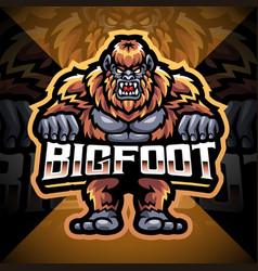 Bigfoot esport mascot logo design vector