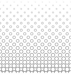 black and white circle pattern - background vector image