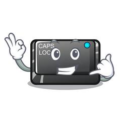 Call me capslock button isolated with cartoon vector