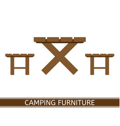 camping furniture icon vector image