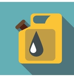 Canister for gasoline icon flat style vector