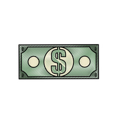 cash money bill vector image