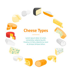 cheese product dairy banner card circle vector image