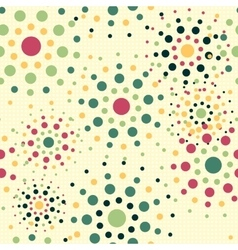 Circles seamless pattern background vector image