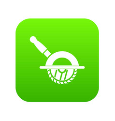 Circular saw icon digital green vector