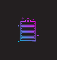 clipboard paper page icon design vector image
