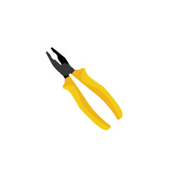 color pliers tool icon vector image
