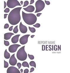 Cover design with drops vector image