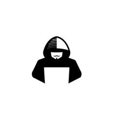 Creative hidden hacker logo vector