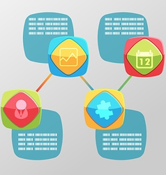 Cute Square Round Info Graphic vector image