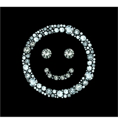 Diamond Smile vector image