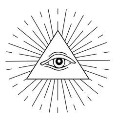 Eye providence vector