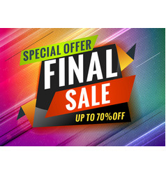 final sale discount promotional concept template vector image