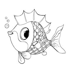 fish from a fairy talegood fish for a vector image
